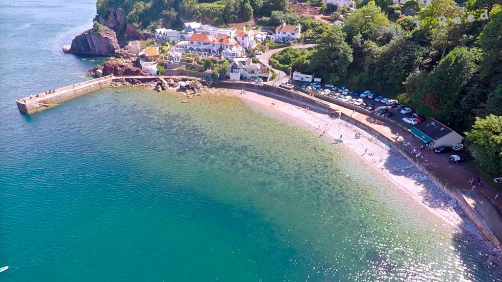 Babbacombe Beach from the air