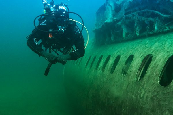 wreck diving in NDAC